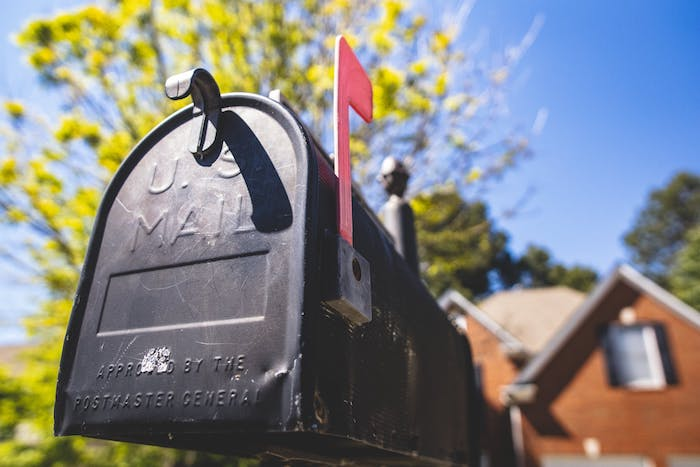Mailbox in front of home